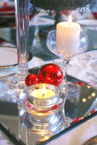 Silver Table Runner Christmas