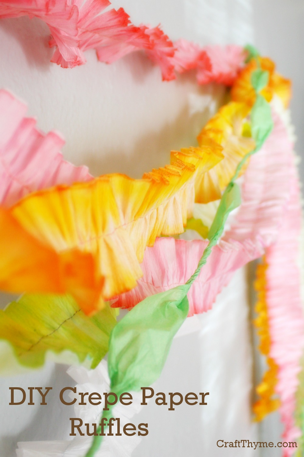 crafts using crepe paper - 28 images
