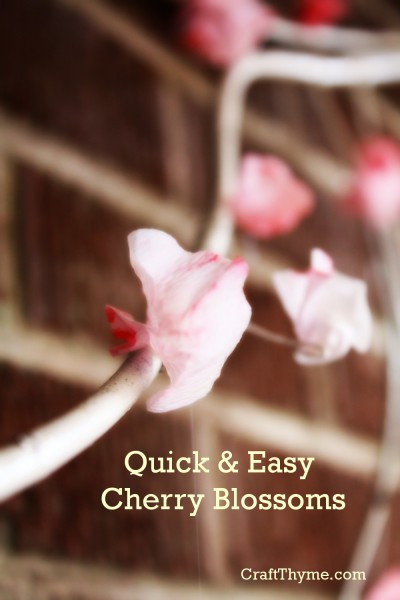 How to create quick and easy faux cherry blossoms