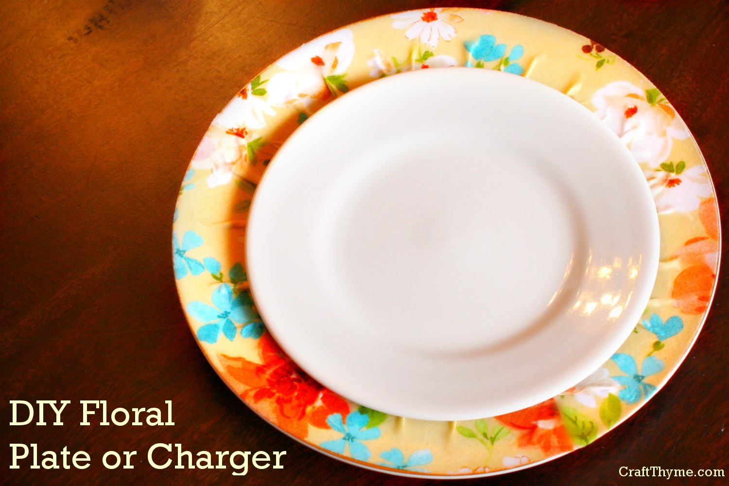 DIY floral Plate or Charger for Easter