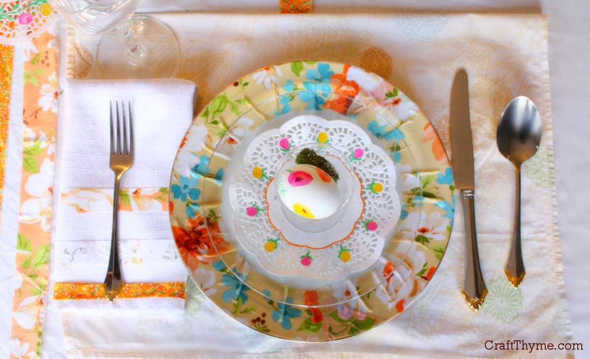 Easter Table Setting: Florals • Craft Thyme