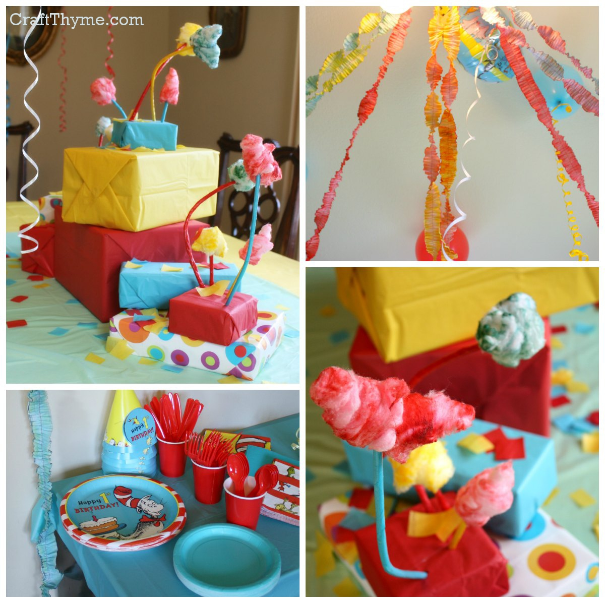 Dr Seuss Themed First Birthday Craft Thyme