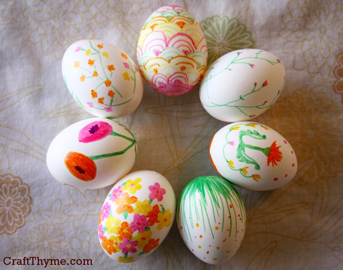 patterned easter eggs u2022 craft thyme