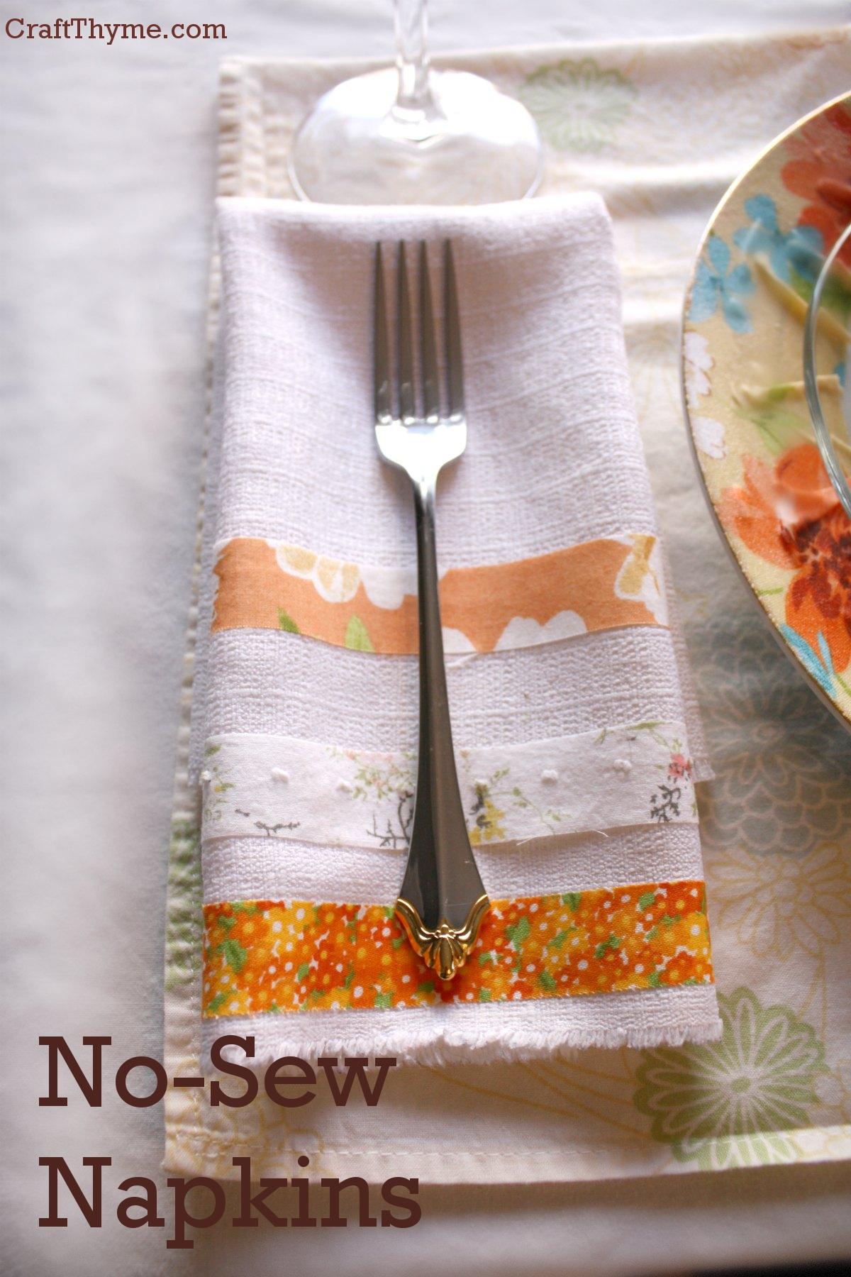No Sew Fabric Napkins