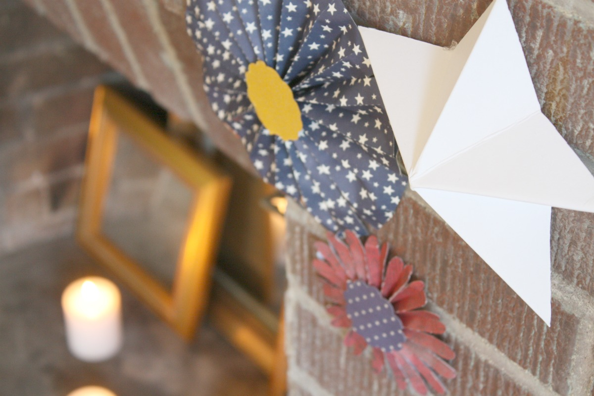 Paper stars how to make 5 pointed 3 d craft thyme - Fourth Of July Decorations