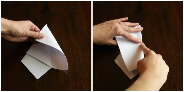 We are just wrapping the paper around itself in this step.  Giving it a nice paper hug.