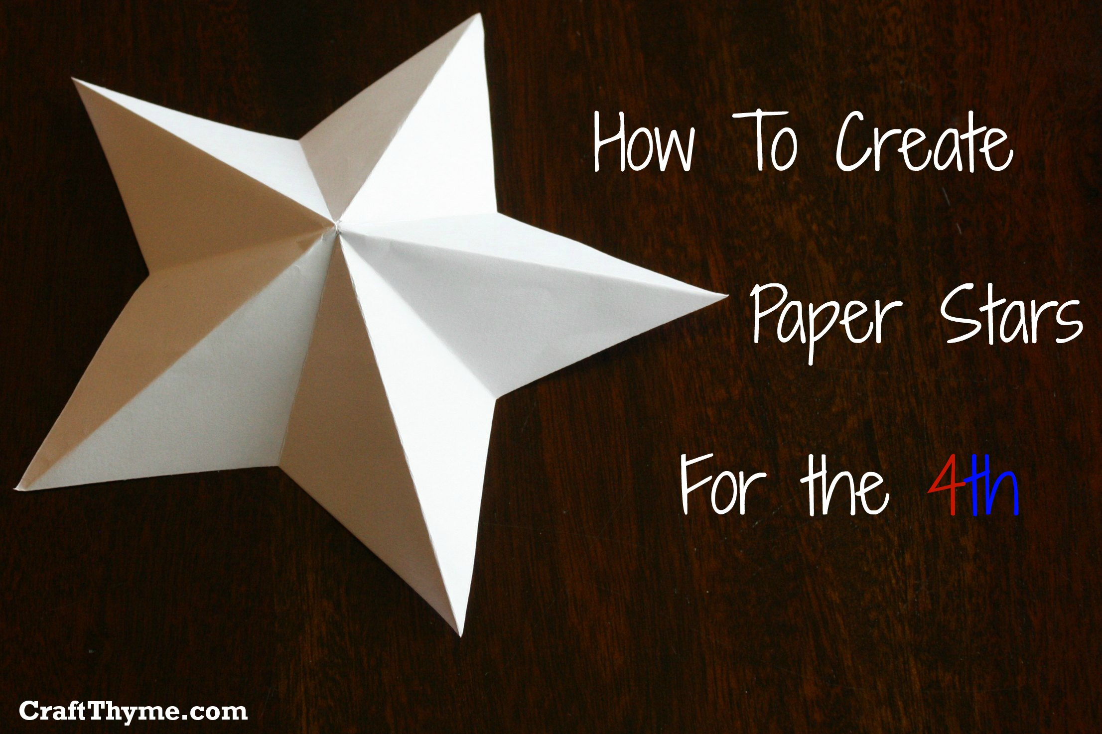 Paper Stars: How To Make 5 Pointed 3-D • Craft Thyme