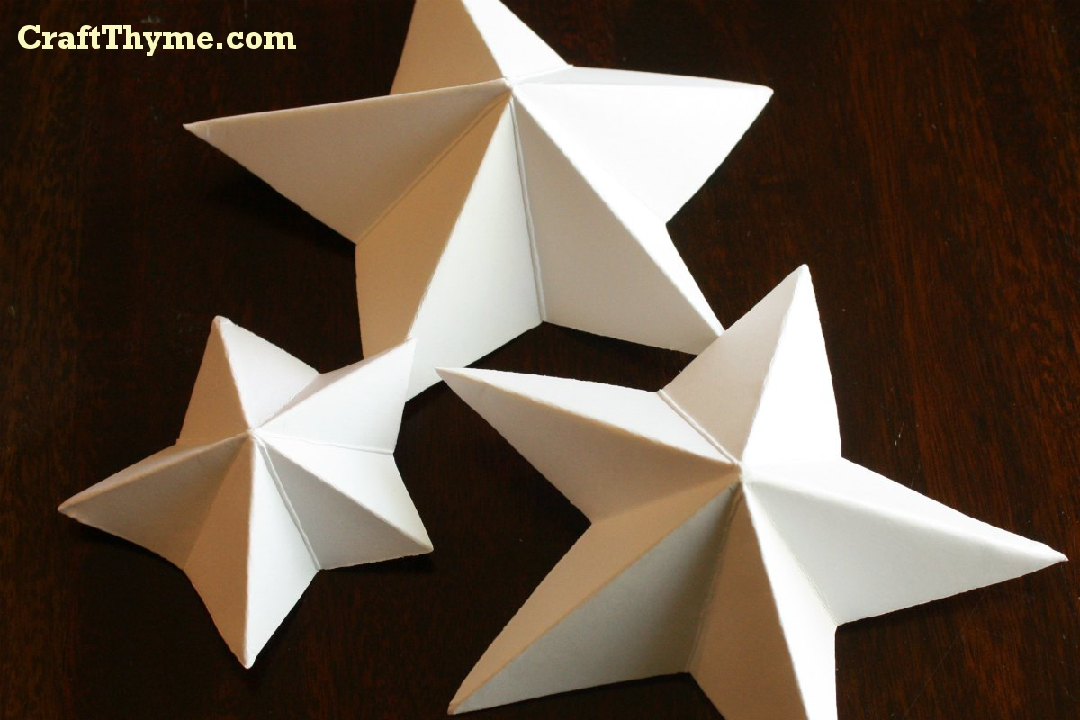 How To Make 3d Paper Stars paper stars: how to make 5 pointed 3 d ...