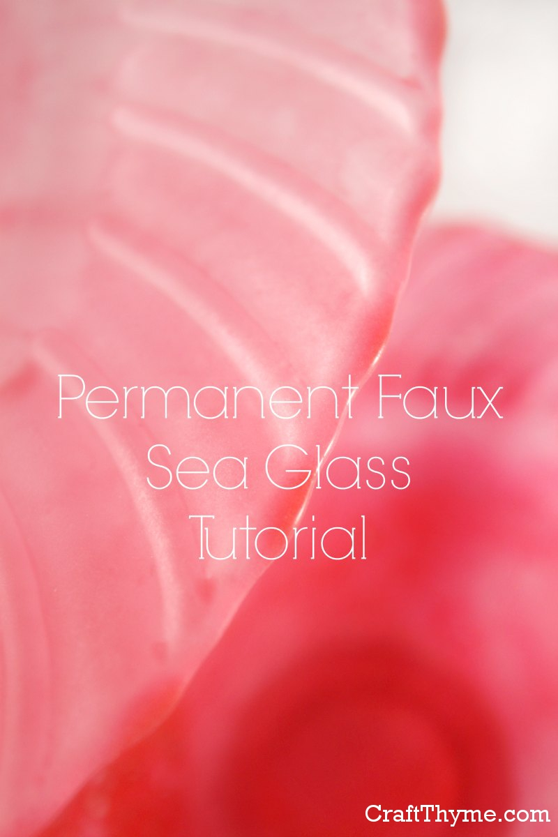 Tutorial to create permanent faux sea or beach glass