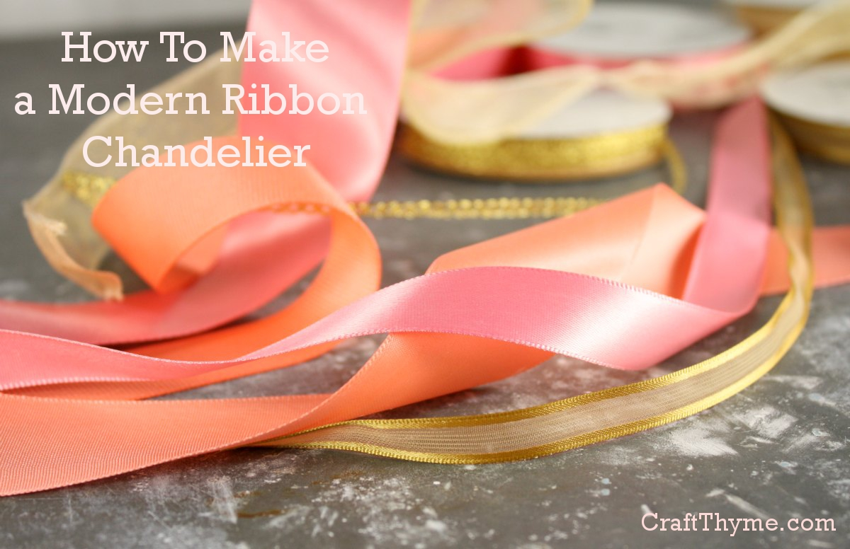 How to make a modern ribbon chandelier
