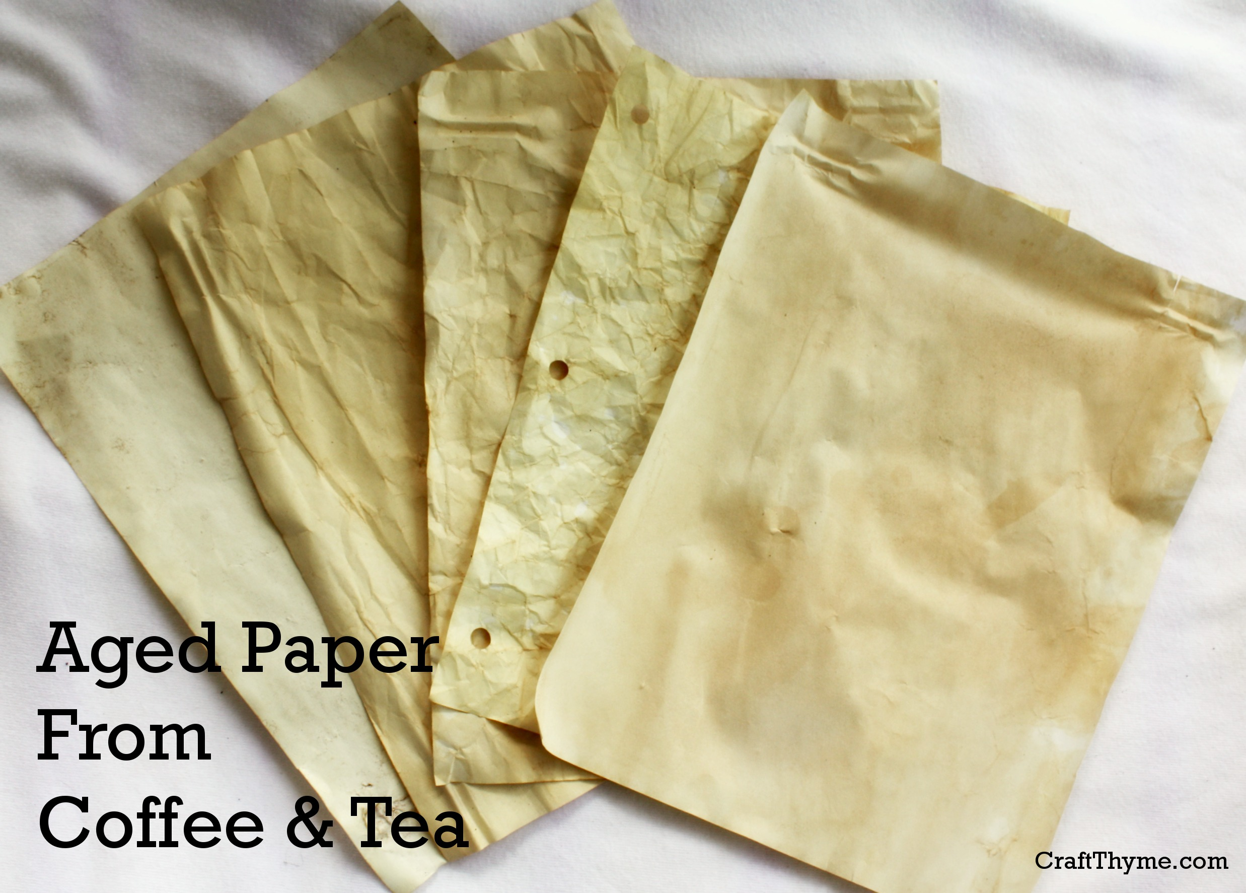 Aged Paper from Coffee and Tea
