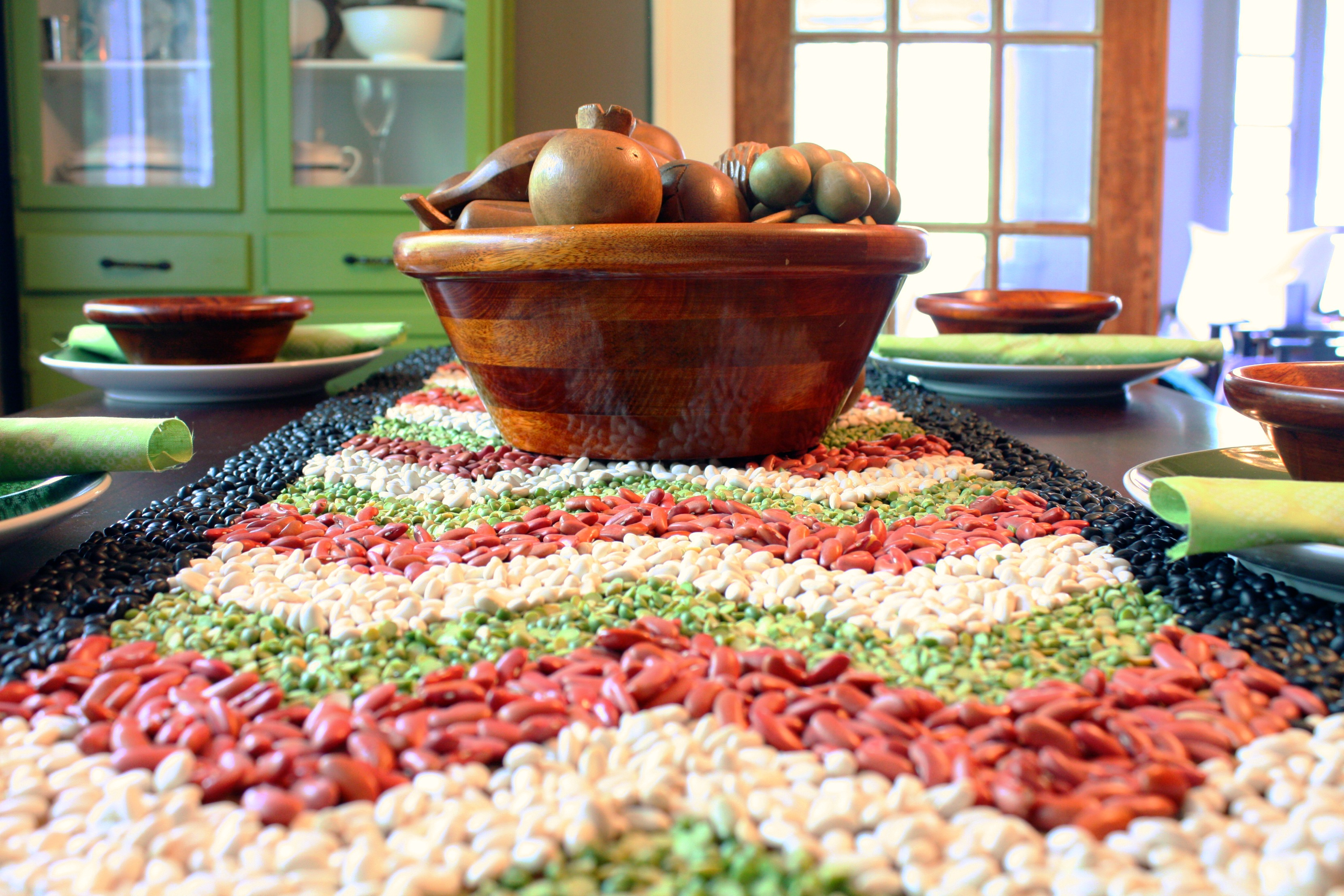 Autumn Bean Textured Table Runner