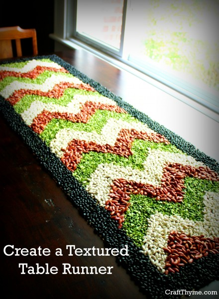 Create a Textured Table Runner from bean crafting