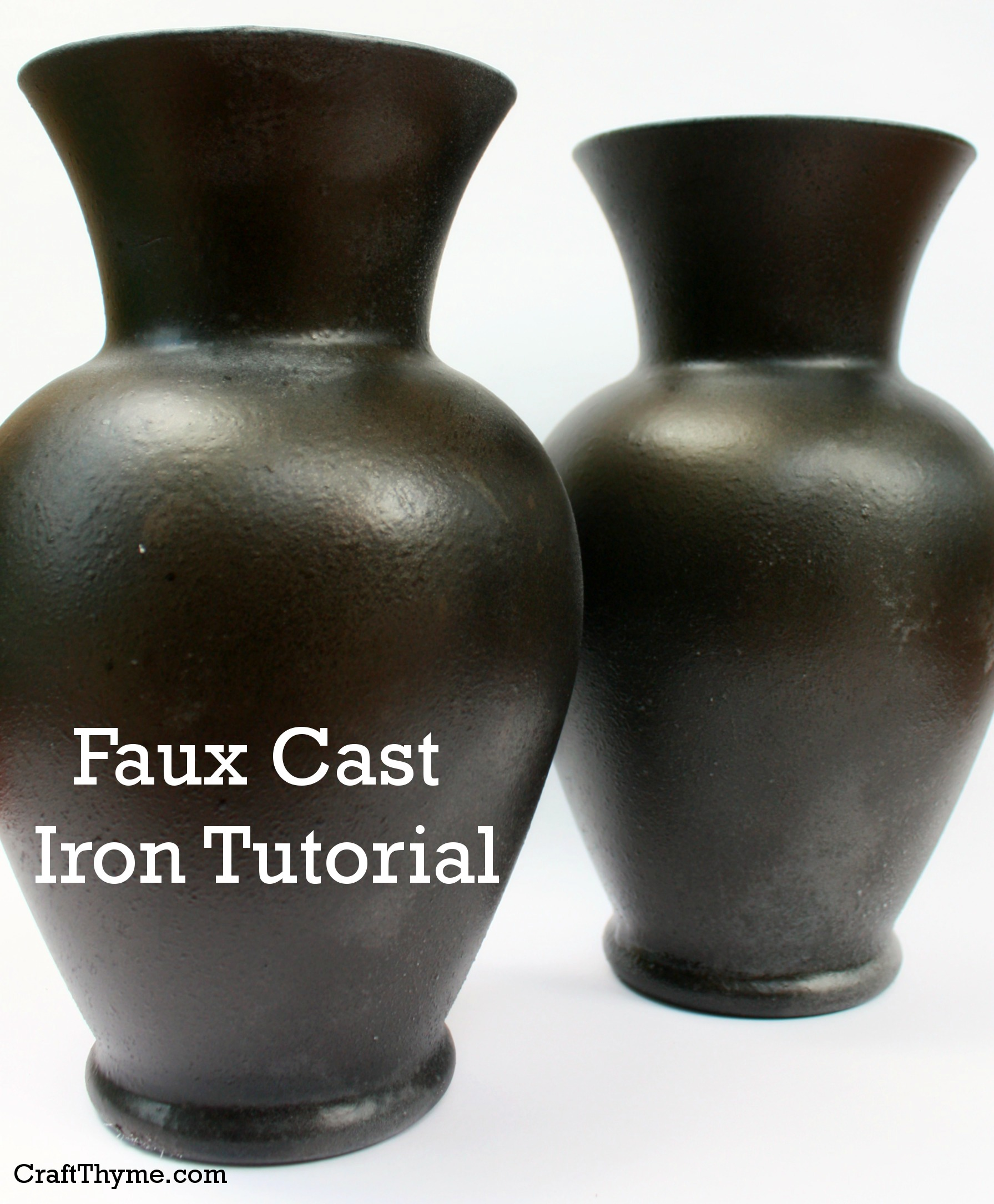 Faux Cast Iron Finish Craft Thyme