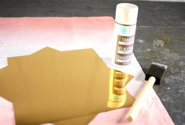 Supplies to gold leaf or gold foil fabric