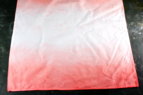 Pink ombre dyed napkin
