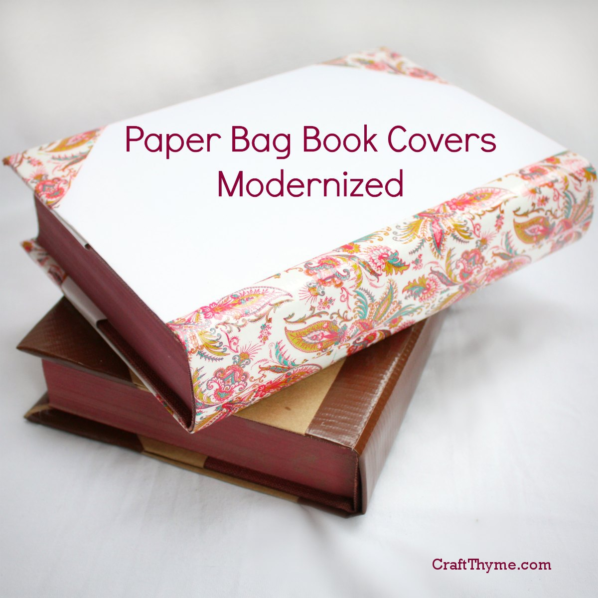 Diy Book Cover Paper Bag : Old fashioned paper bag book covers craft thyme