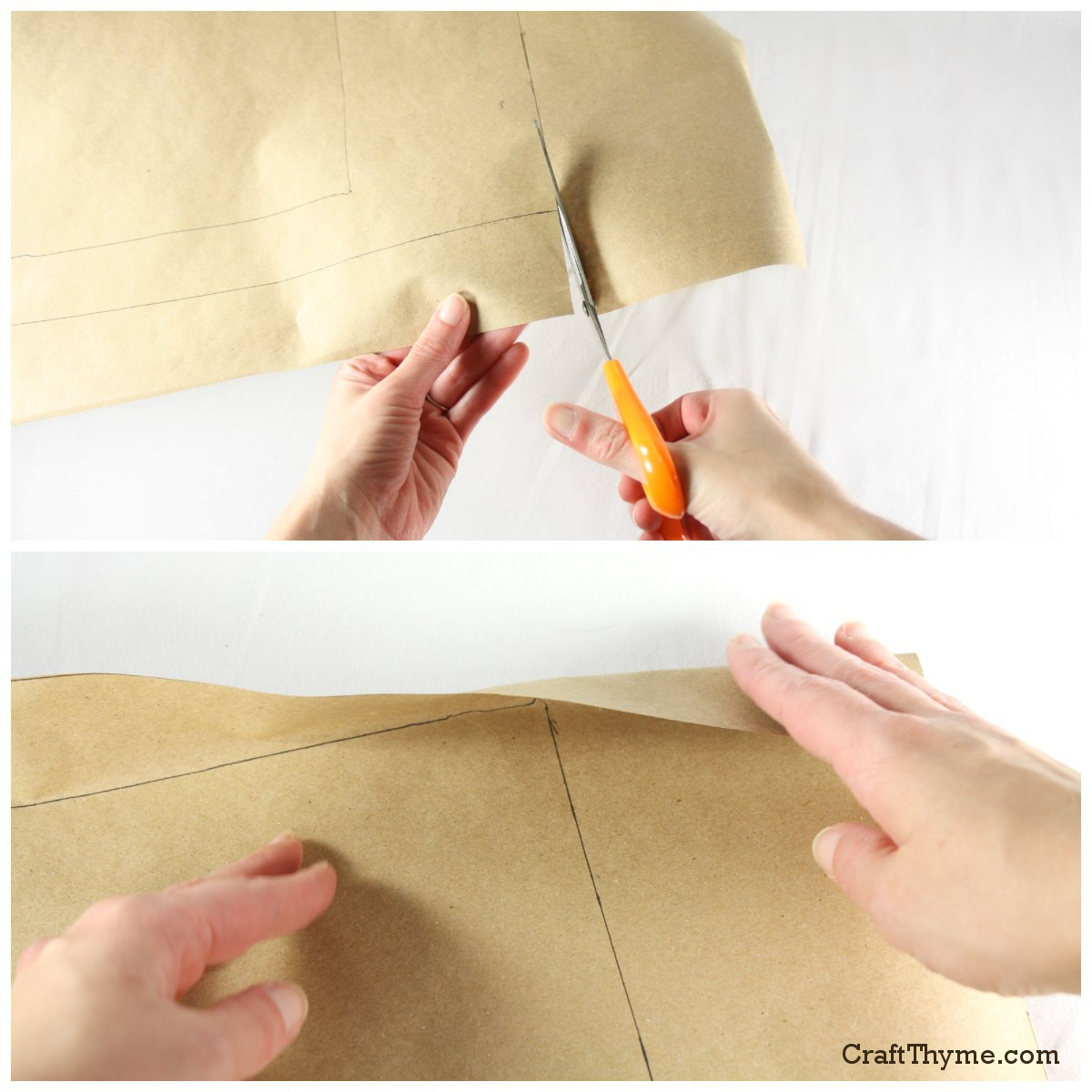Old Fashioned Paper Bag Book Covers \u2022 Craft Thyme