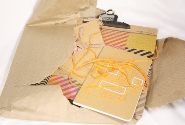 August Package Pals: Picture of opening my craft package