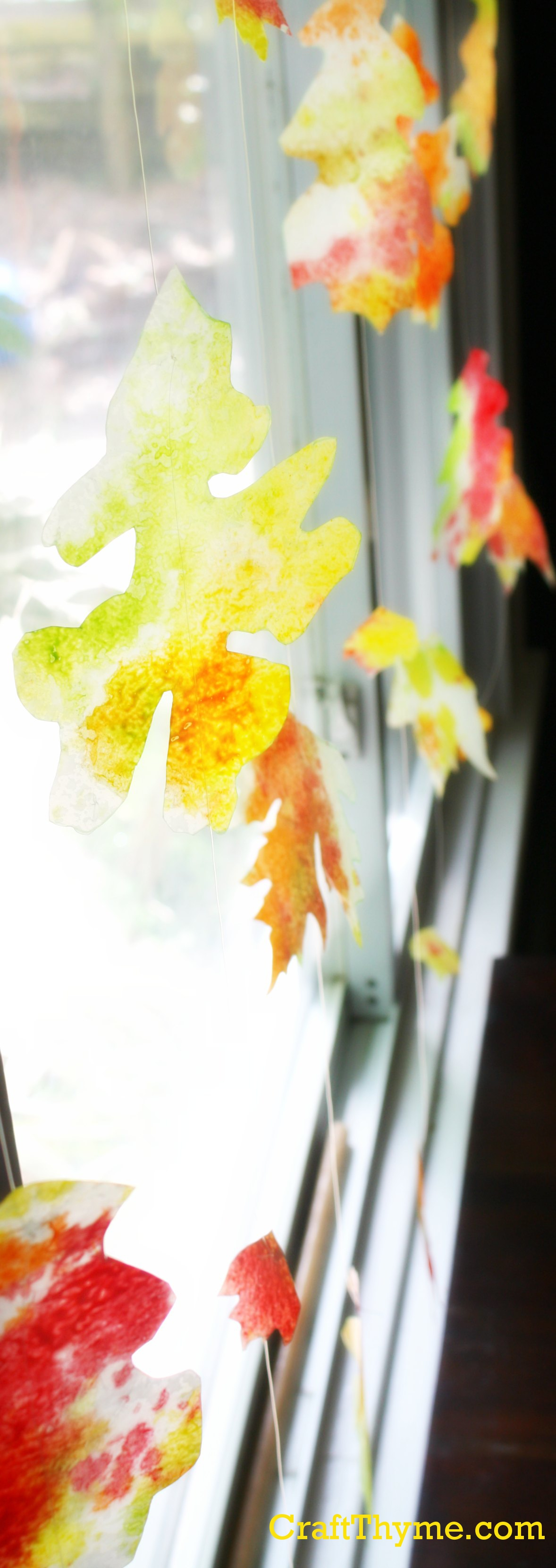 Autumn Sun Catchers Craft Thyme
