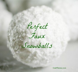 How to make perfect faux snowballs