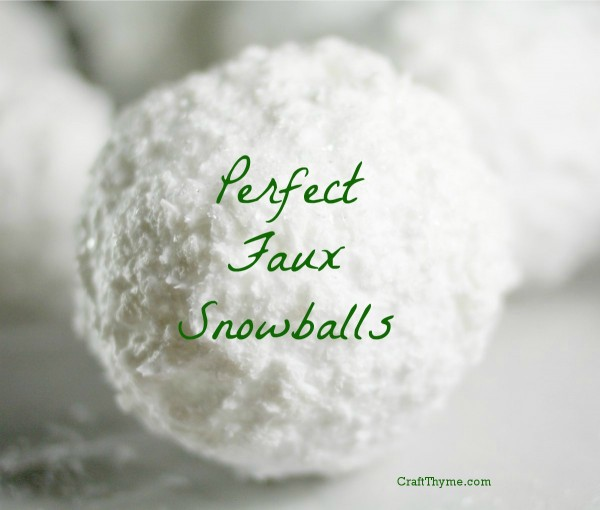 Faux snowballs soap flocking style craft thyme for Fake snow recipe for crafts