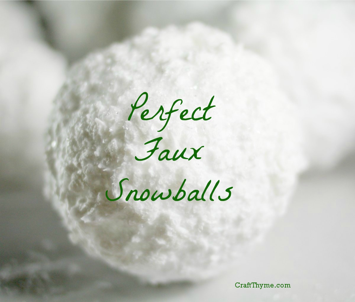 Faux Snowballs Soap Flocking Style Craft Thyme