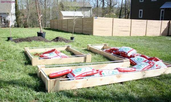 DIY decorative raised beds