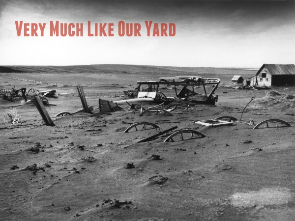 Humorous depiction of our new construction yard.