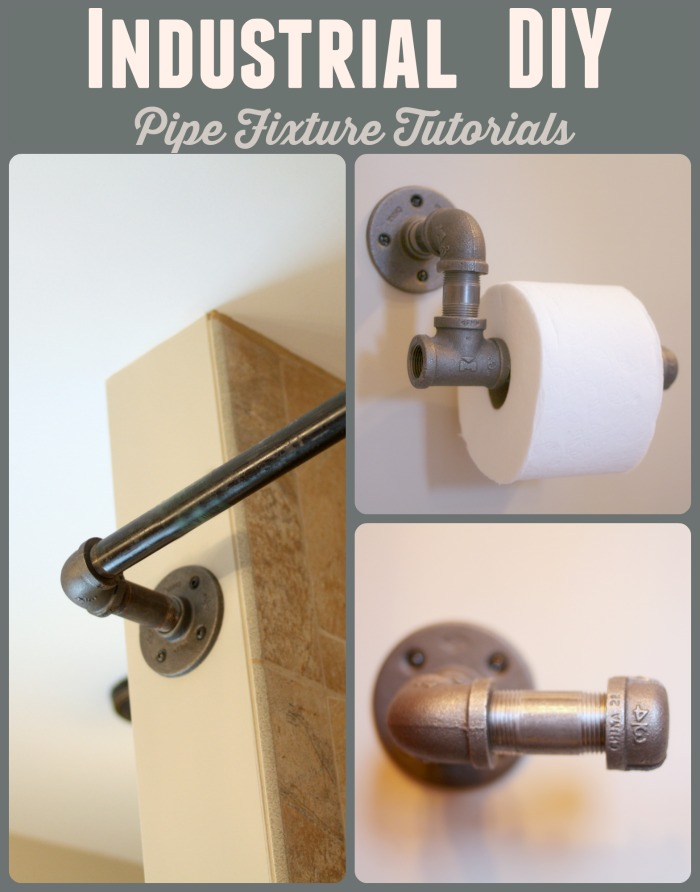 Tutorials On How To Create Iron Pipe Shower Curtains Toilet Paper Holder And Towel