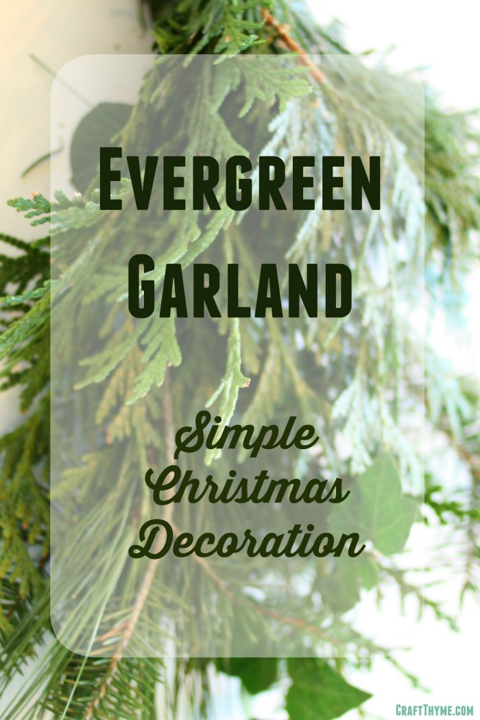 How to make Evergreen Garland for Christmas