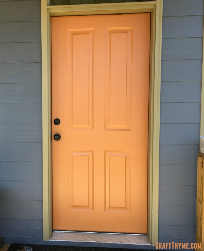 How to paint an orange front door.