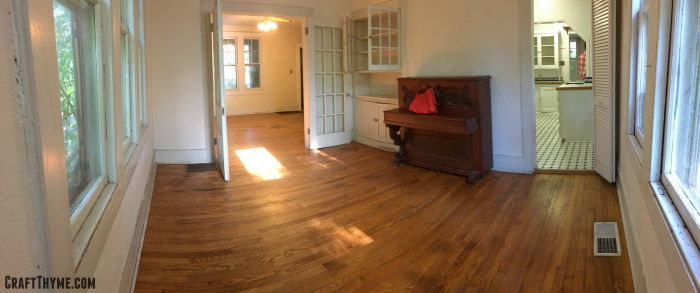 Home Tour Dining Room: We re-homed the piano. Best story from the previous tenants: No one knew where the piano came from. It just appeared one day.