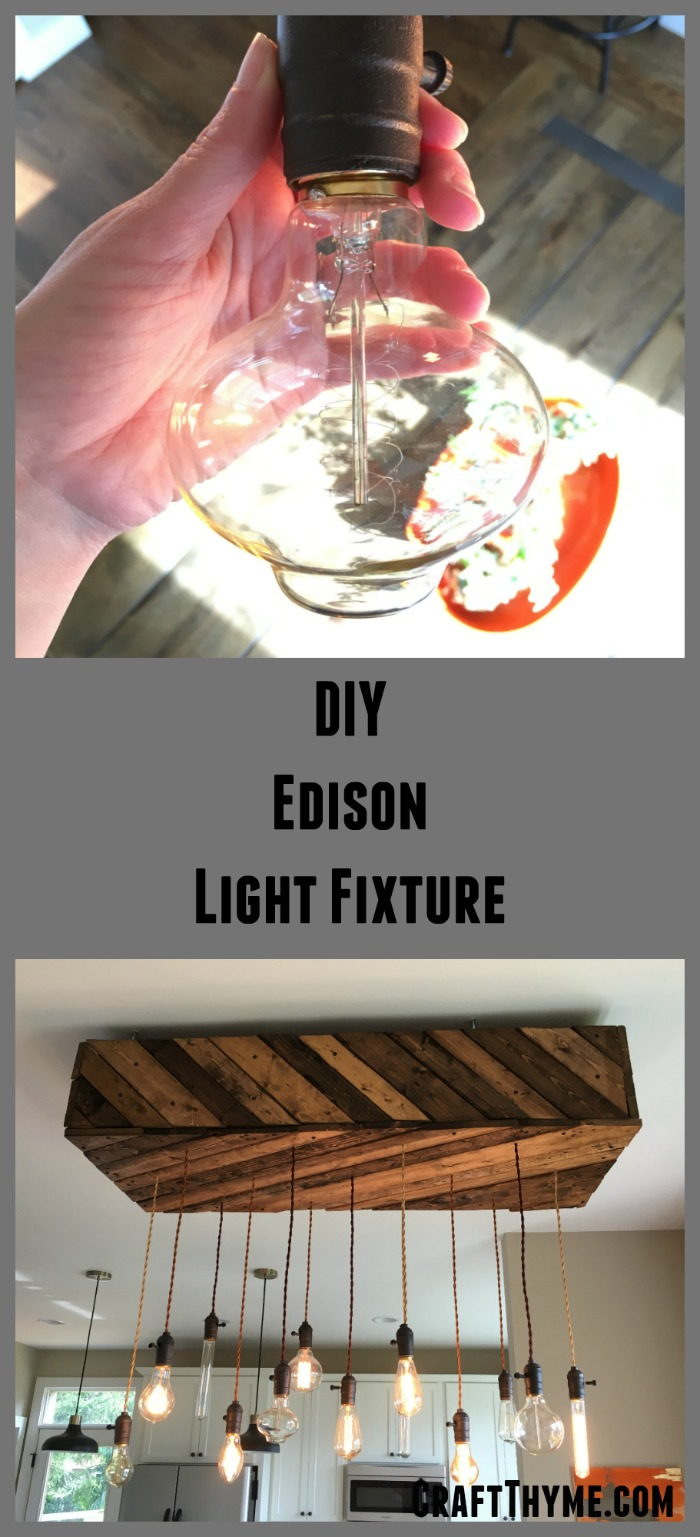 Edison bulb chandelier a diy overview craft thyme for Diy edison light fixtures