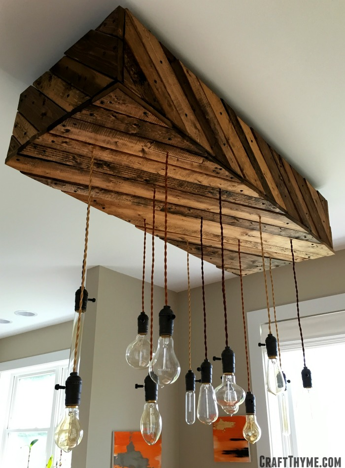 How to make an edison bulb chandelier