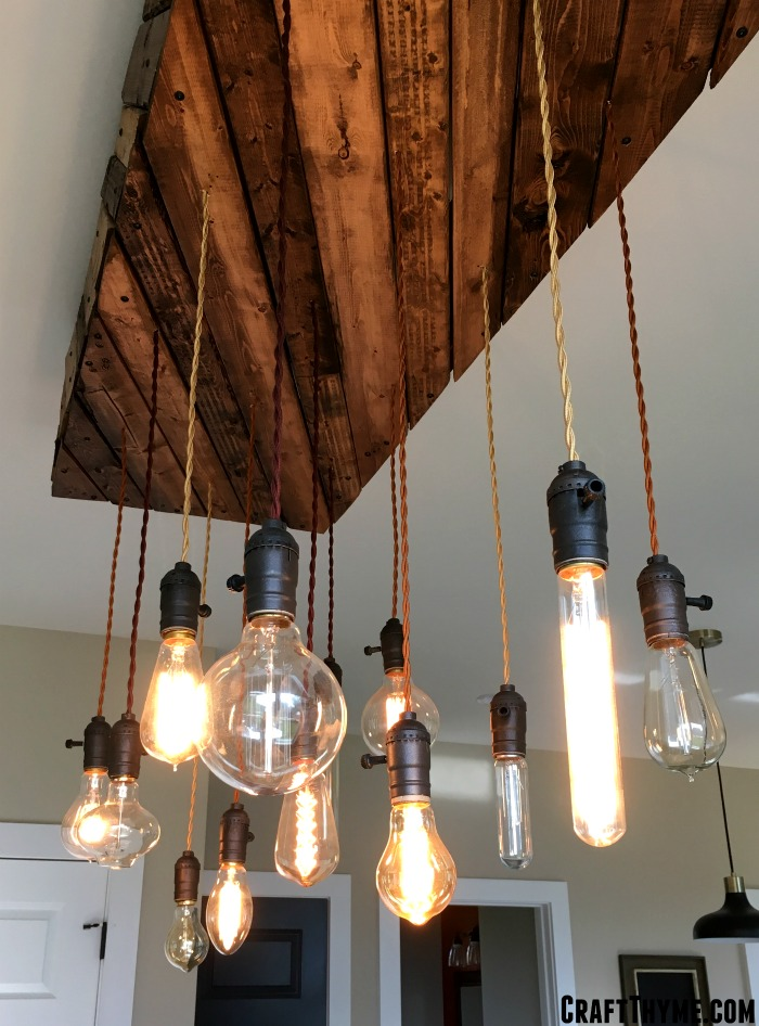 Mae a custom edison light fixture
