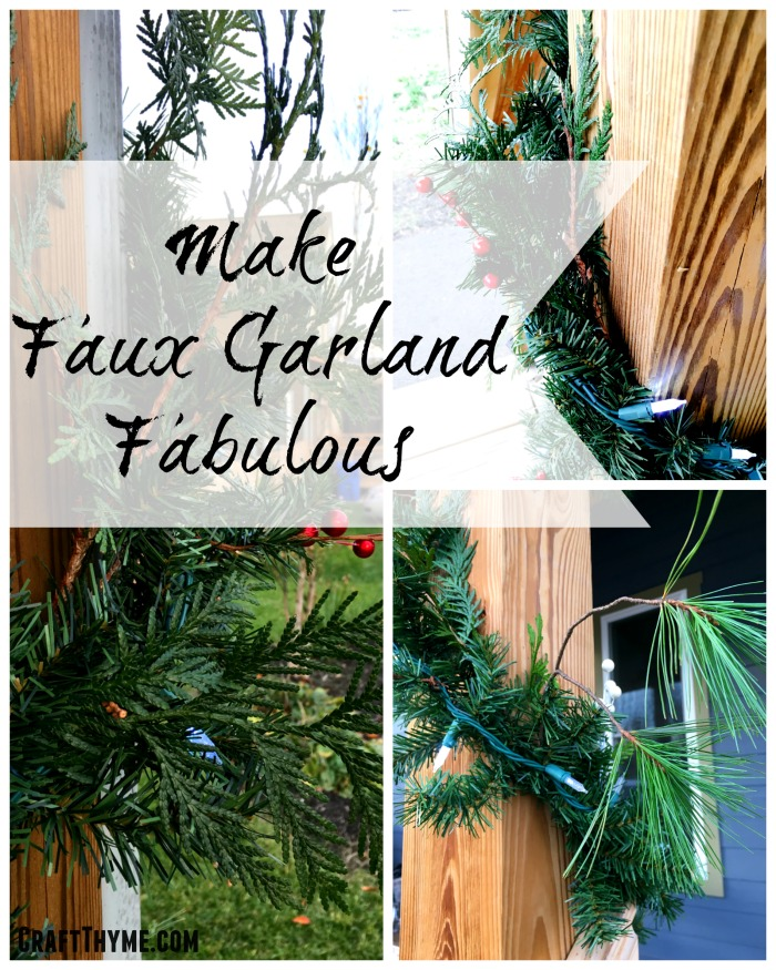 Make faux garland fabulous