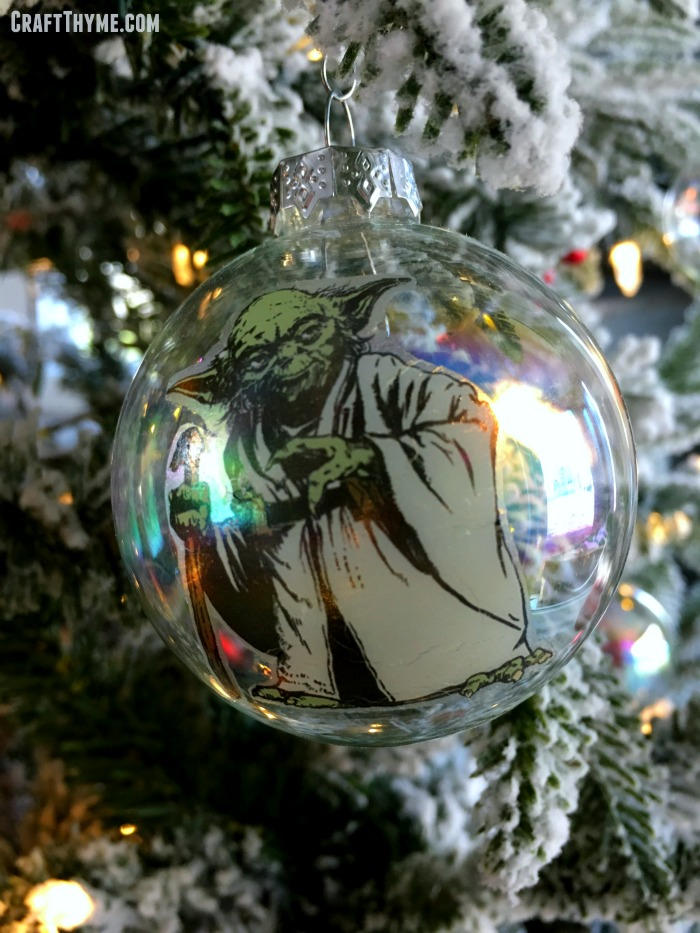 how to make star wars christmas ornaments from temporary tattoos