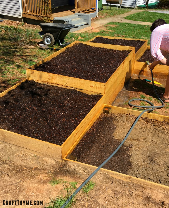 How to prepare raised garden beds weed free style craft for Cheap topsoil