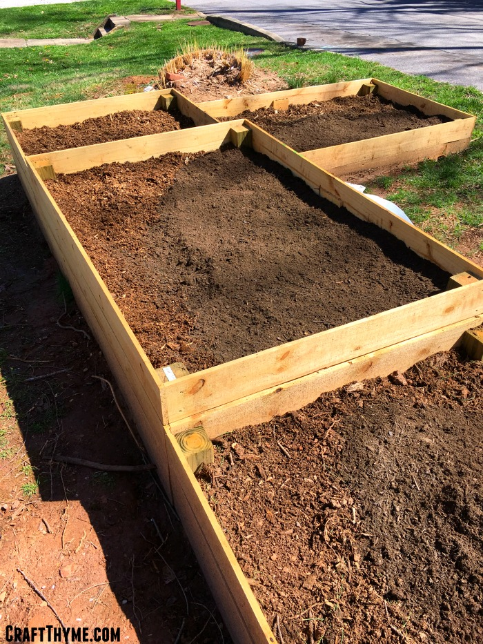 Adding topsoil to a DIY raised bed soil mixture