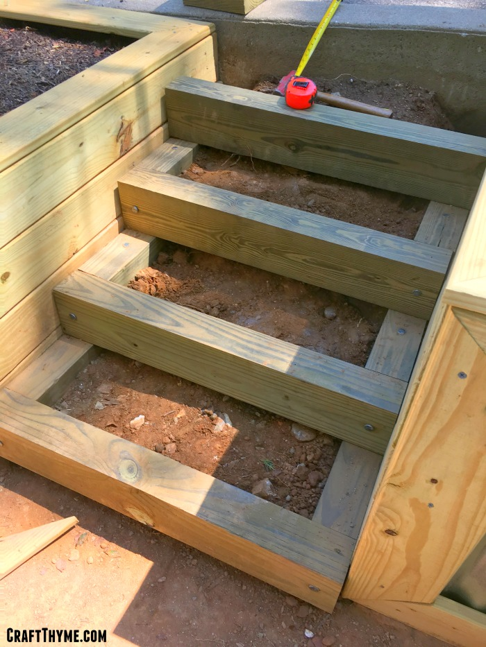 How To Build A Pea Gravel And Timber Staircase For The Garden