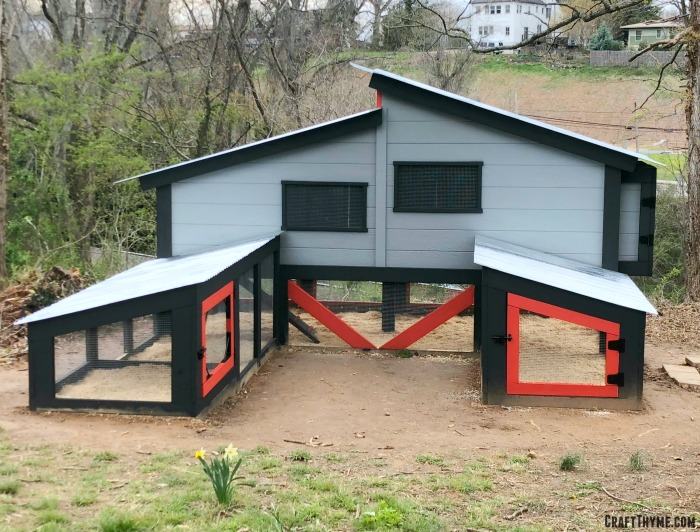 Modern chicken coop design that we custom built and designed