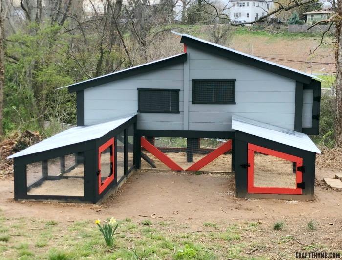 Modern chicken coop design that we custom built and designed