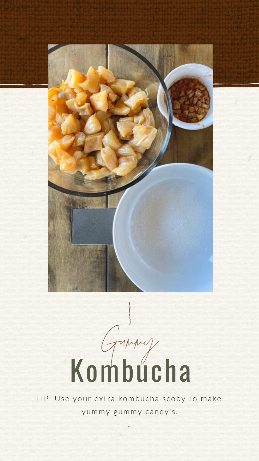 How to make kombucha scoby gummies.  These natural gummy candies are simple to make and use all those extra kombucha scoby you have laying around.